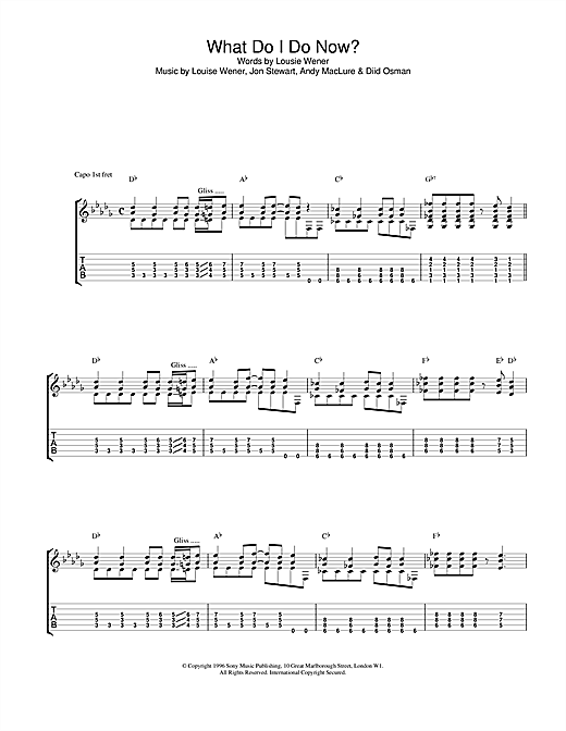 Sleeper What Do I Do Now? sheet music notes and chords