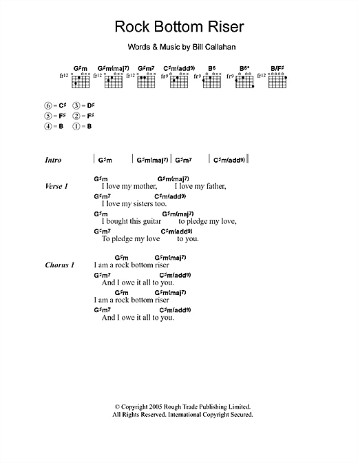 Smog Rock Bottom Riser sheet music notes and chords