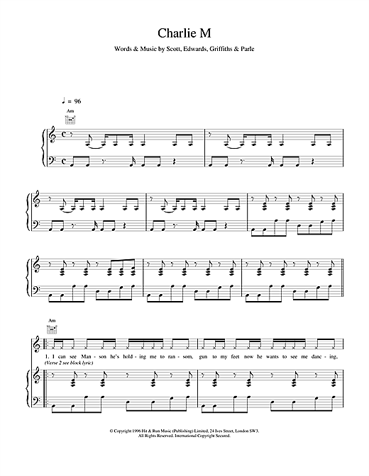 Space Charlie M sheet music notes and chords