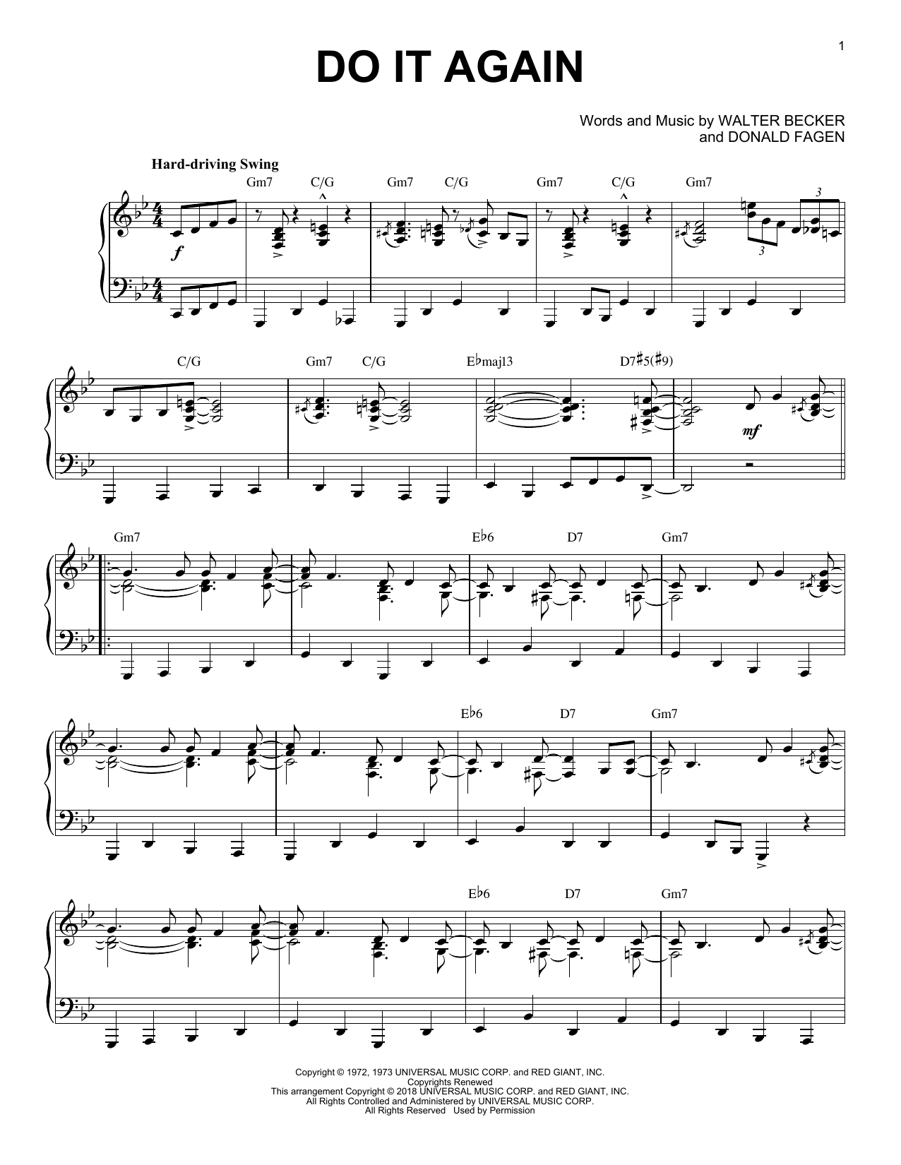 Download Steely Dan 'Do It Again' Digital Sheet Music Notes & Chords and start playing in minutes