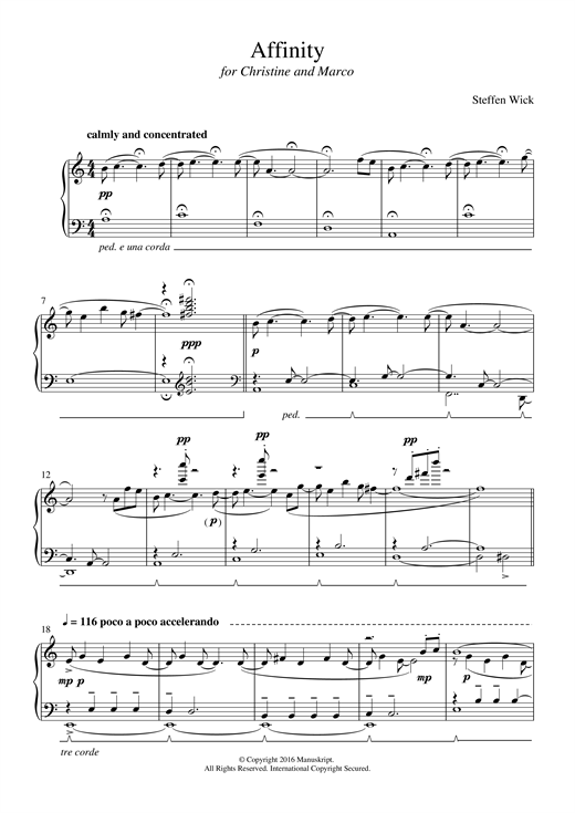Download Steffen Wick 'Affinity' Digital Sheet Music Notes & Chords and start playing in minutes