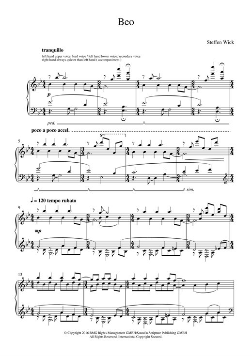 Download Steffen Wick 'Beo' Digital Sheet Music Notes & Chords and start playing in minutes