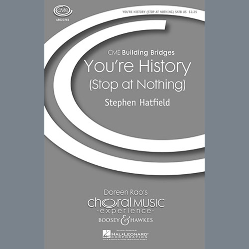 Stephen Hatfield You're History (Stop At Nothing) pictures
