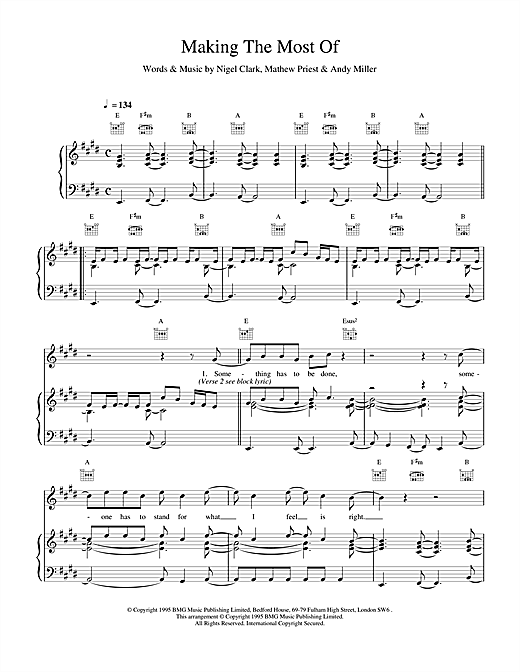 Stereophonics Making The Most Of sheet music notes and chords