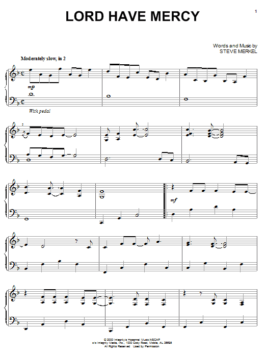 Download Steve Merkel 'Lord Have Mercy' Digital Sheet Music Notes & Chords and start playing in minutes