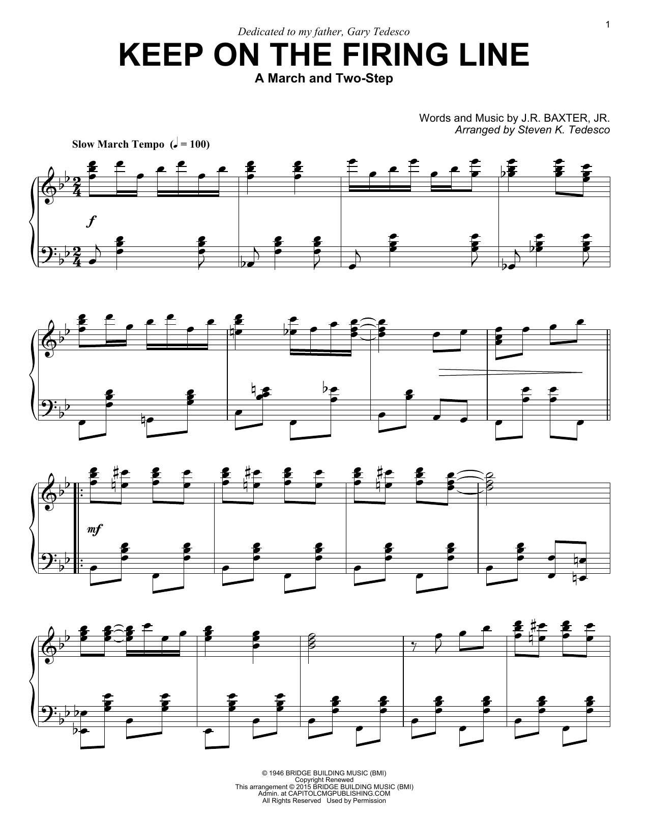 Download Steven K. Tedesco 'Keep On The Firing Line' Digital Sheet Music Notes & Chords and start playing in minutes