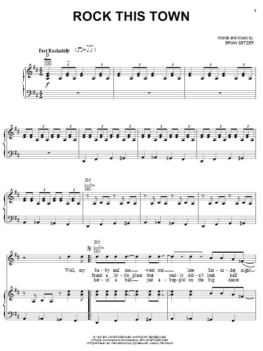 Stray Cats Rock This Town sheet music preview music notes and score for Guitar Tab including 10 page(s)