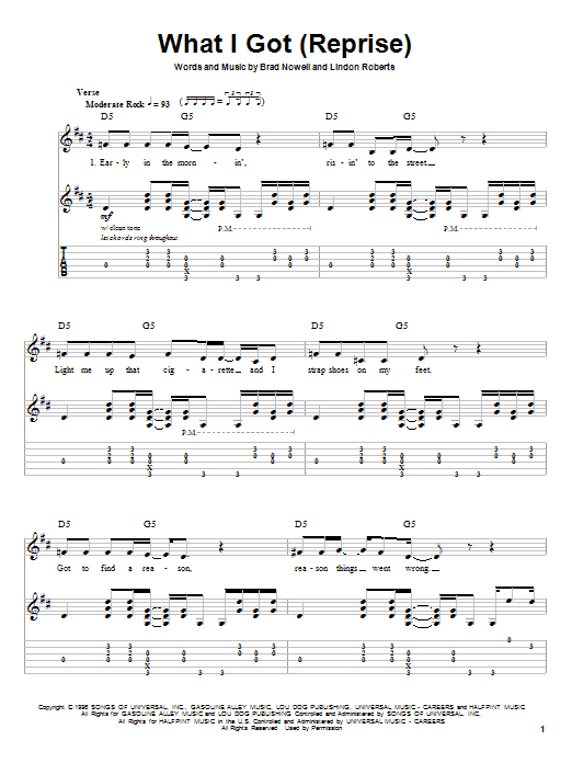 Sublime What I Got sheet music preview music notes and score for Guitar Tab including 8 page(s)