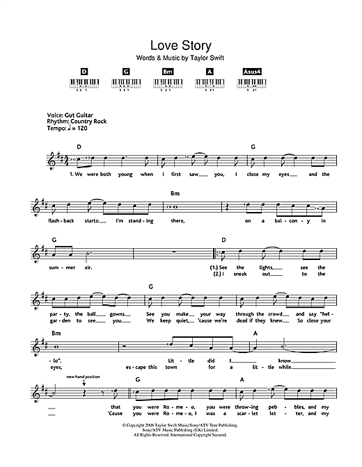 Download Taylor Swift 'Love Story' Digital Sheet Music Notes & Chords and start playing in minutes