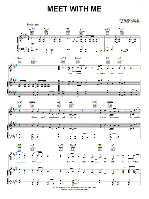 Ten Shekel Shirt Meet With Me sheet music notes and chords