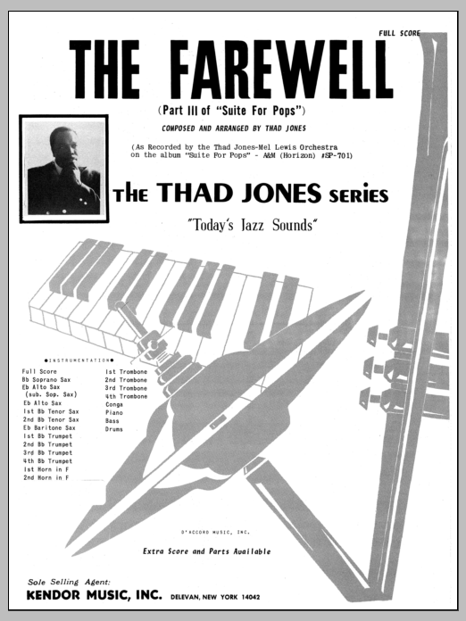 Thad Jones The Farewell - Full Score sheet music preview music notes and score for Jazz Ensemble including 10 page(s)