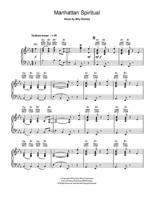 Download The Back O Town Syncopators 'Manhattan Spiritual' Digital Sheet Music Notes & Chords and start playing in minutes