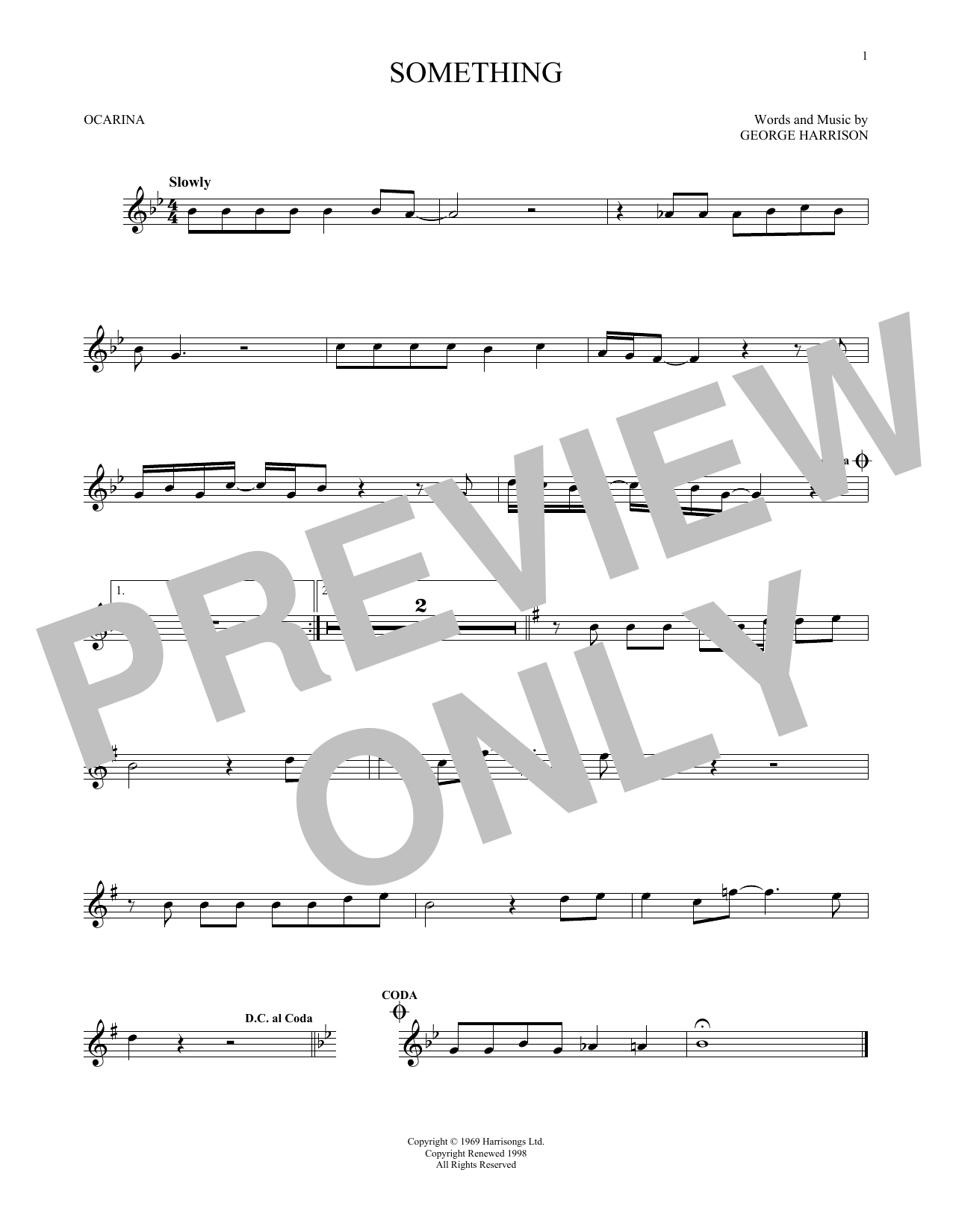 The Beatles Something sheet music preview music notes and score for Ukulele with strumming patterns including 2 page(s)