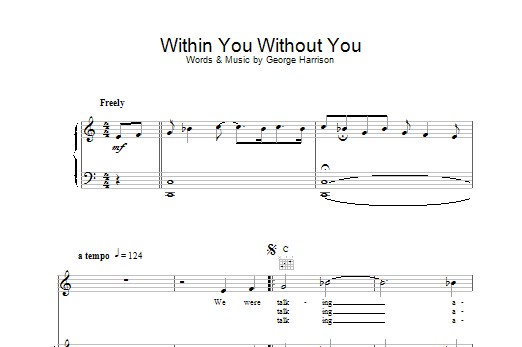 The Beatles Within You Without You sheet music preview music notes and score for Guitar Tab including 15 page(s)