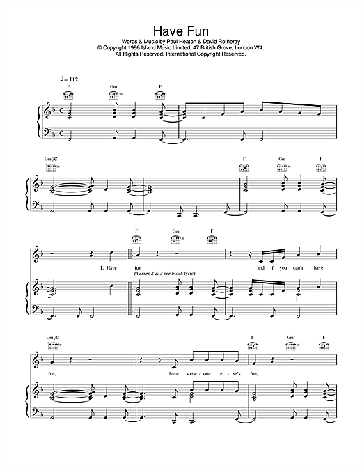 The Beautiful South Have Fun sheet music notes and chords