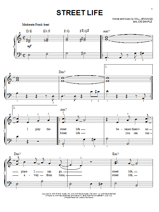 Download The Crusaders 'Street Life' Digital Sheet Music Notes & Chords and start playing in minutes