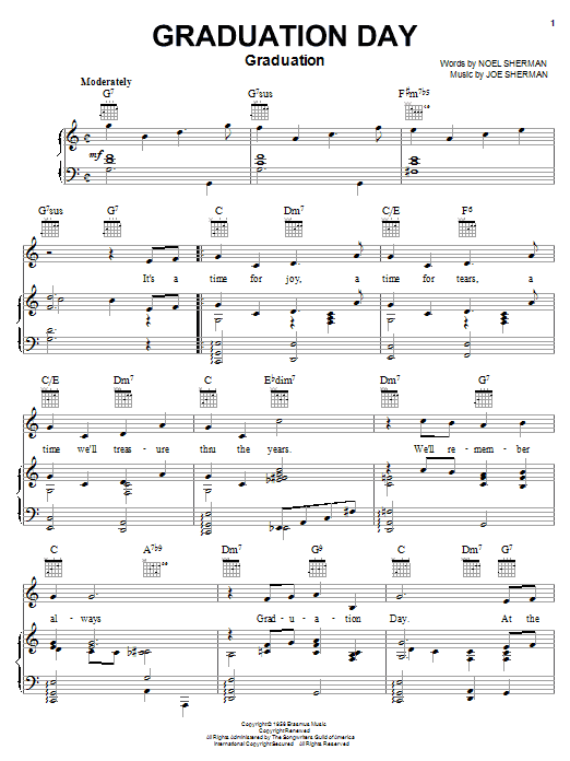 The Four Freshmen Graduation Day sheet music notes and chords