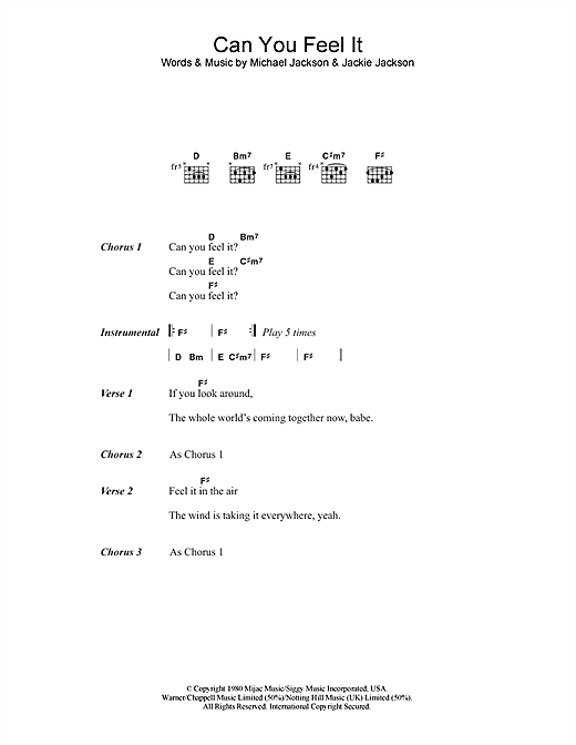 Download The Jackson 5 'Can You Feel It' Digital Sheet Music Notes & Chords and start playing in minutes