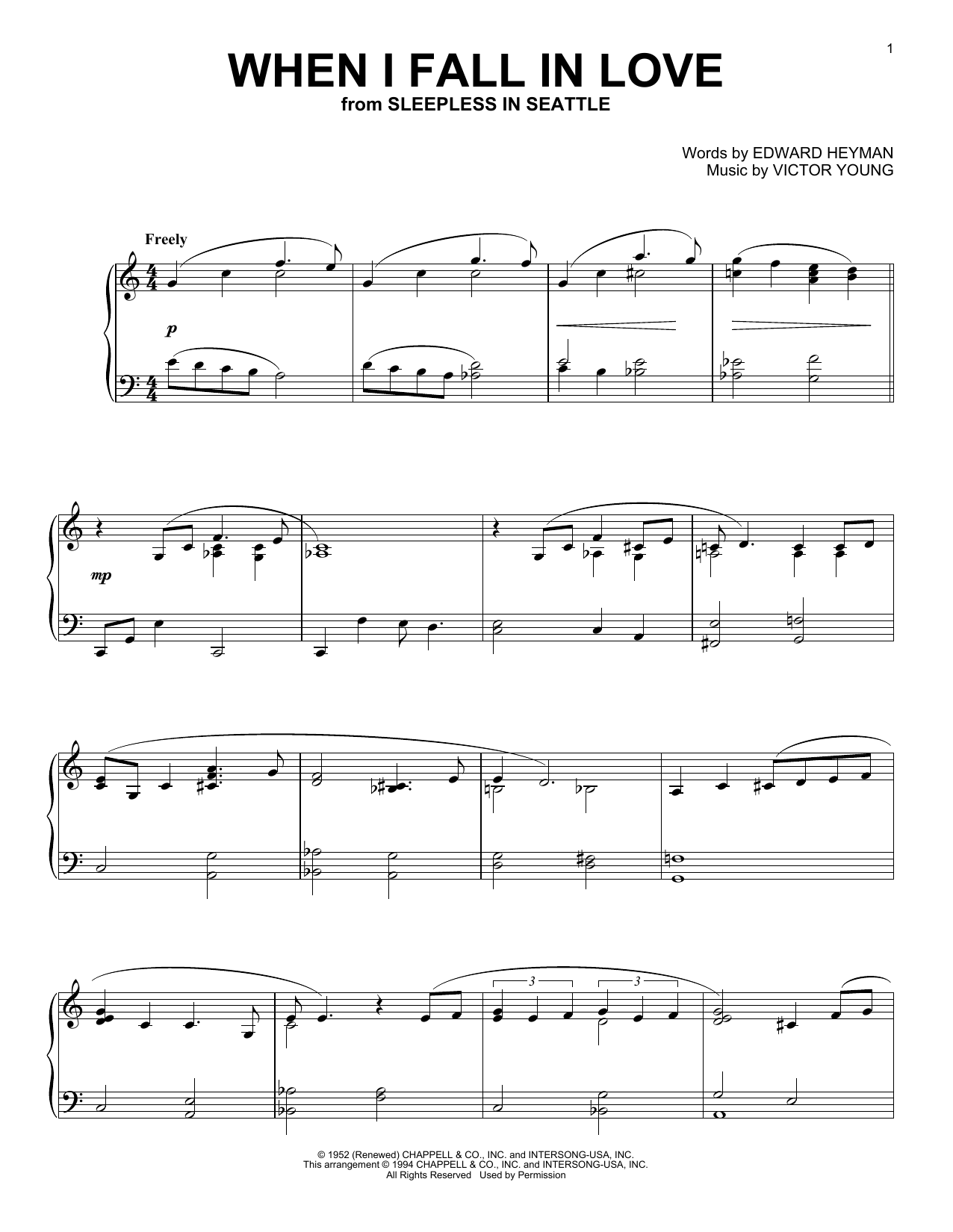 Download The Lettermen 'When I Fall In Love' Digital Sheet Music Notes & Chords and start playing in minutes