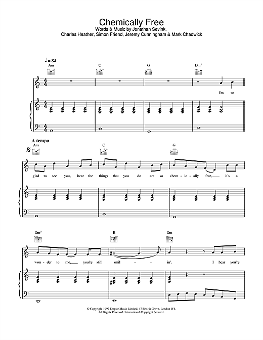 The Levellers Chemically Free sheet music notes and chords