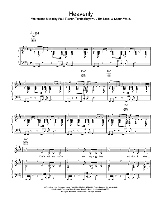 The Lighthouse Family Heavenly sheet music notes and chords