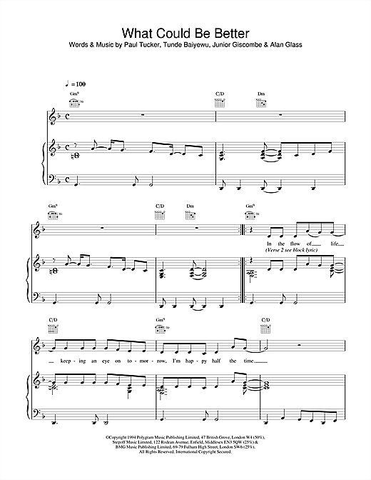 The Lighthouse Family What Could Be Better sheet music notes and chords