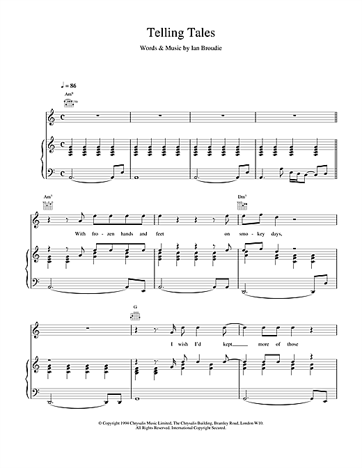 The Lightning Seeds Telling Tales sheet music notes and chords