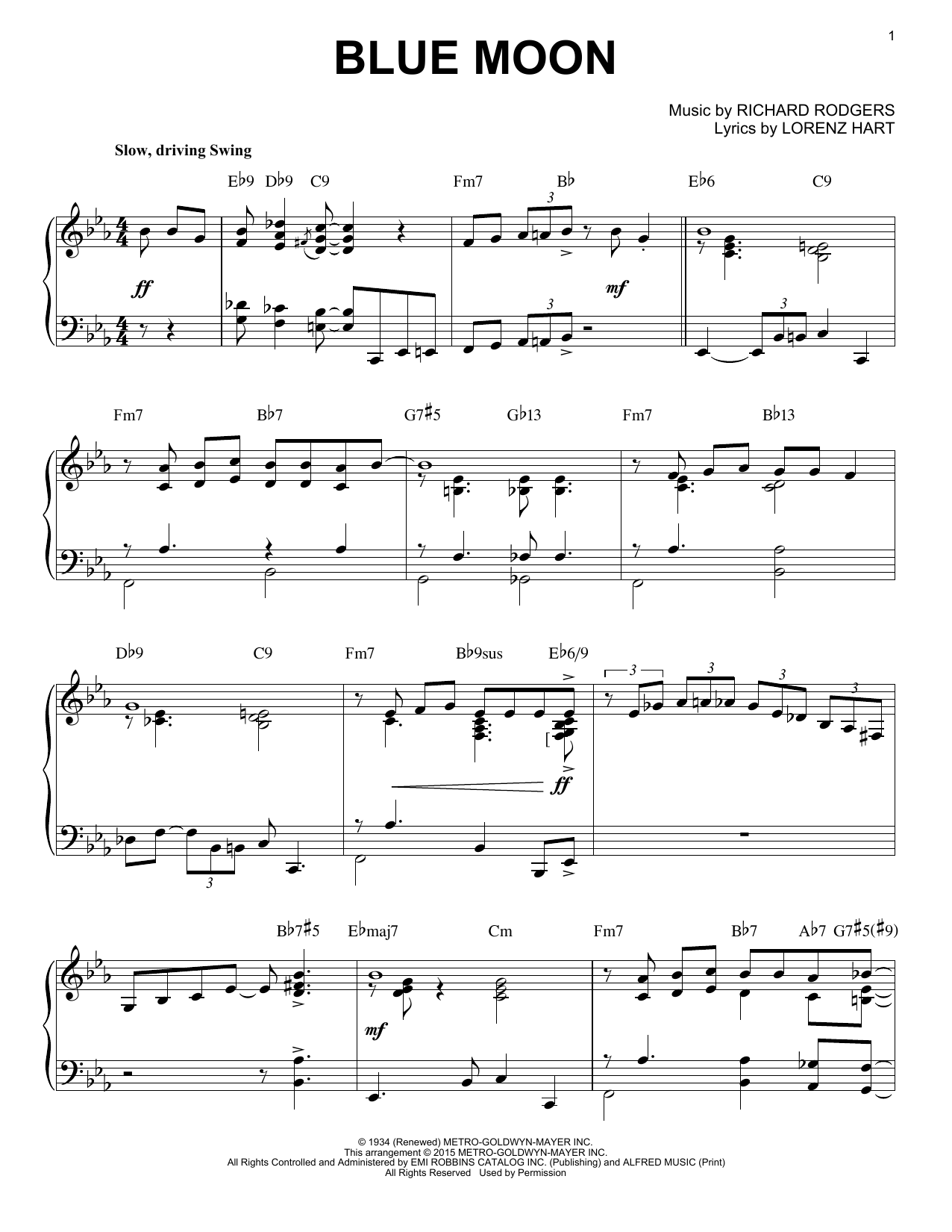 Download The Marcels 'Blue Moon' Digital Sheet Music Notes & Chords and start playing in minutes