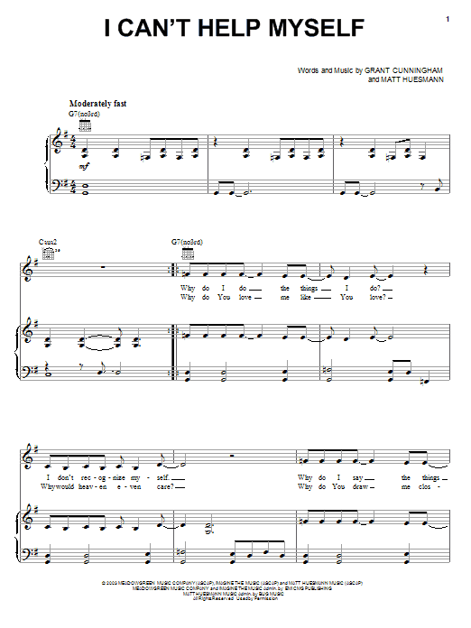 The Martins I Can't Help Myself sheet music notes and chords