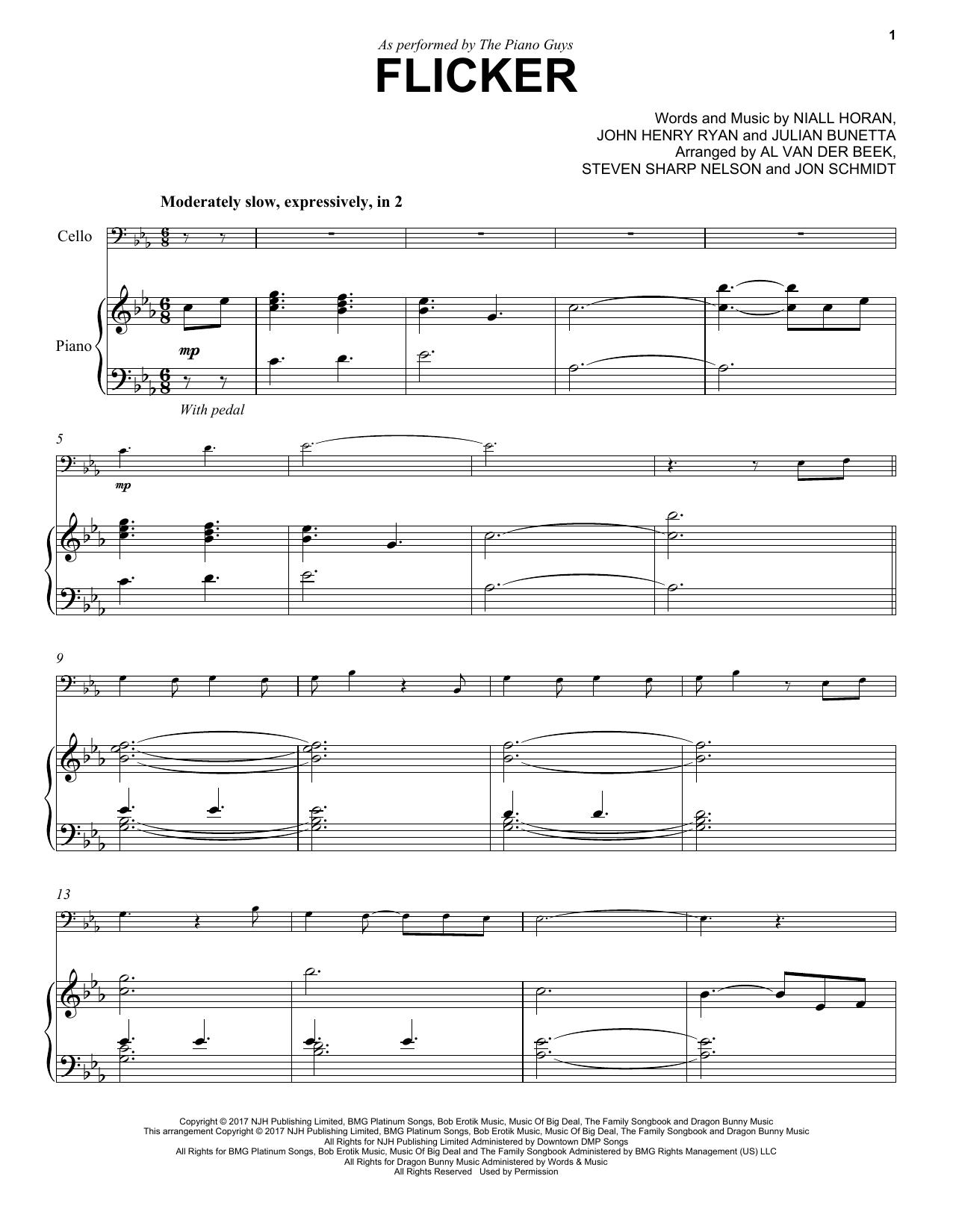 Niall Horan Flicker sheet music notes and chords
