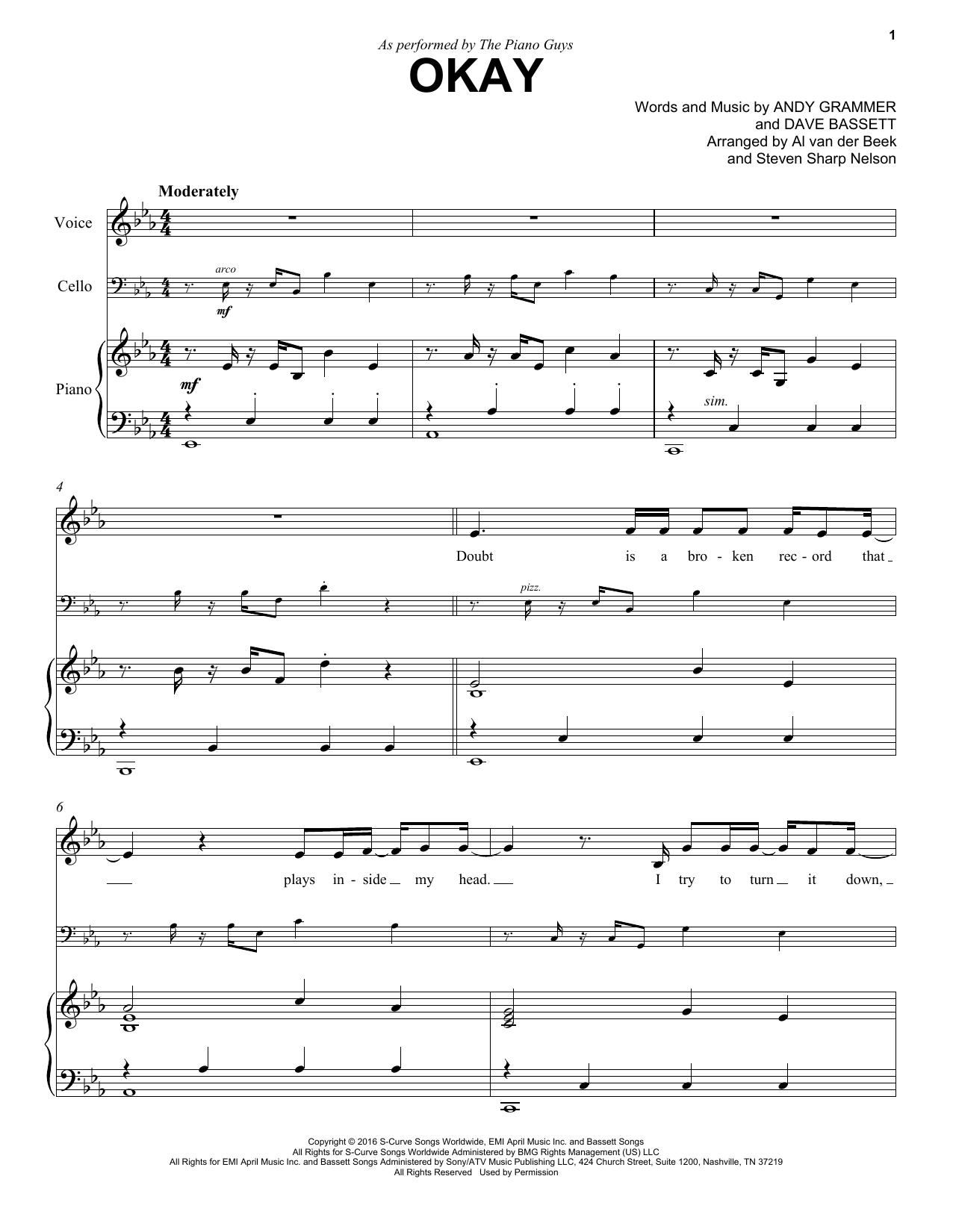 The Piano Guys Okay sheet music notes and chords