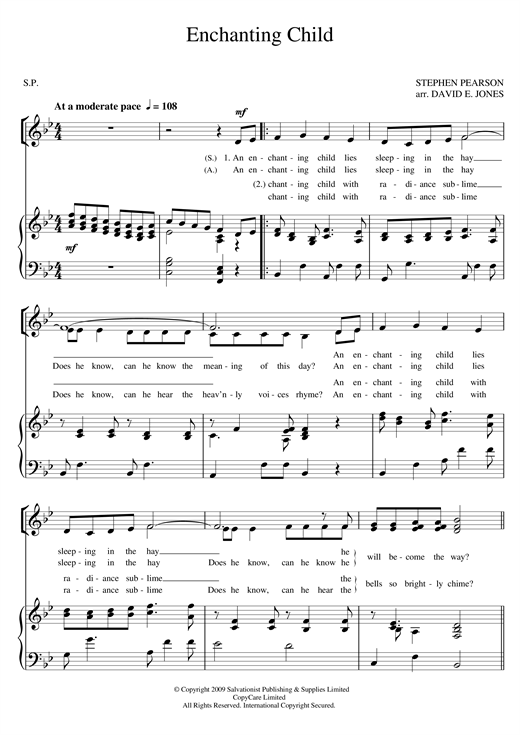 Download The Salvation Army 'Enchanting Child' Digital Sheet Music Notes & Chords and start playing in minutes