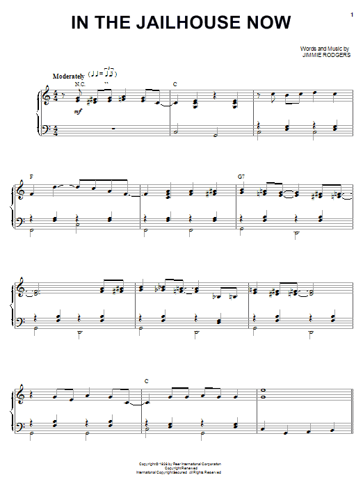 The Soggy Bottom Boys In The Jailhouse Now sheet music notes and chords