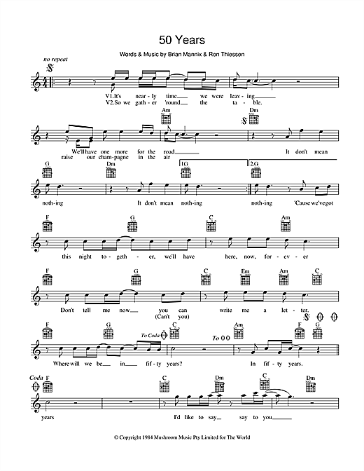 The Uncanny X-Men 50 Years sheet music preview music notes and score for Melody Line, Lyrics & Chords including 2 page(s)