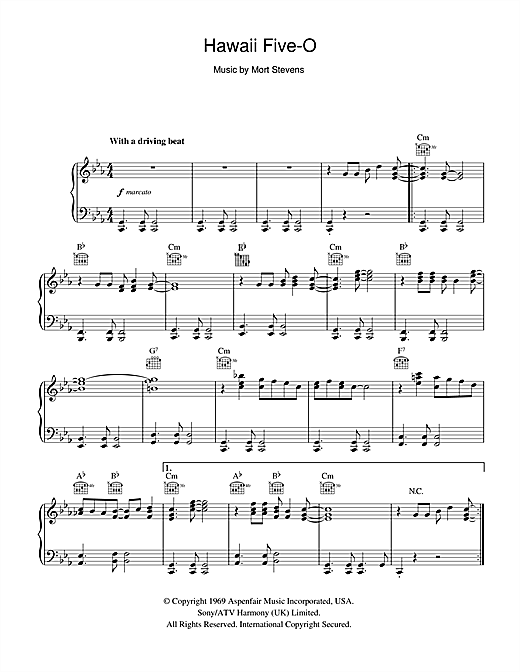 Download The Ventures 'Hawaii Five-O' Digital Sheet Music Notes & Chords and start playing in minutes