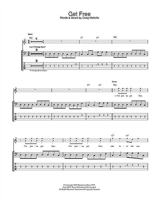 The Vines Get Free sheet music notes and chords