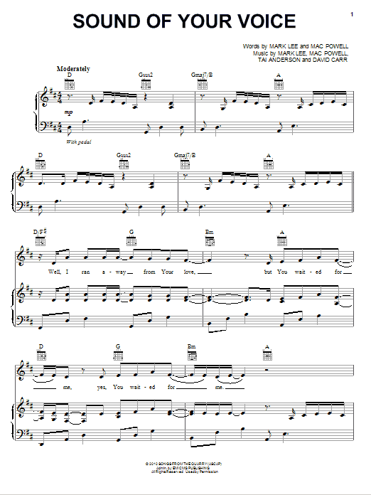Third Day Sound Of Your Voice sheet music notes and chords