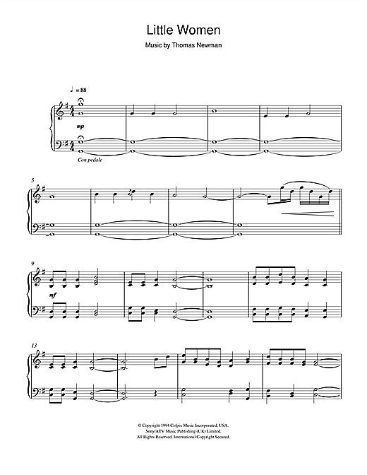 Download Thomas Newman 'Little Women (Orchard House (Main Title)/Valley Of The Shadow)' Digital Sheet Music Notes & Chords and start playing in minutes