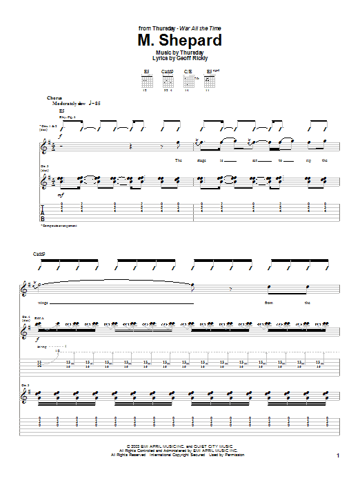 Thursday M. Shepard sheet music preview music notes and score for Guitar Tab including 10 page(s)