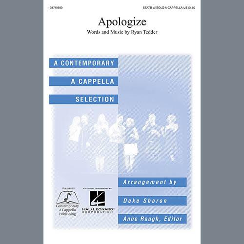 Timbaland Apologize (feat. OneRepublic) (arr. Deke Sharon) profile picture