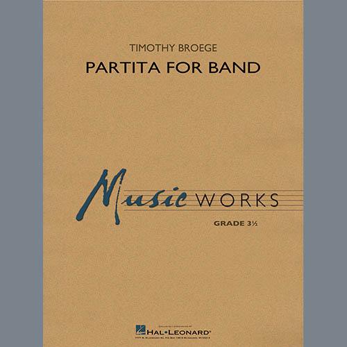 Timothy Broege Partita for Band - Conductor Score (Full Score) profile picture