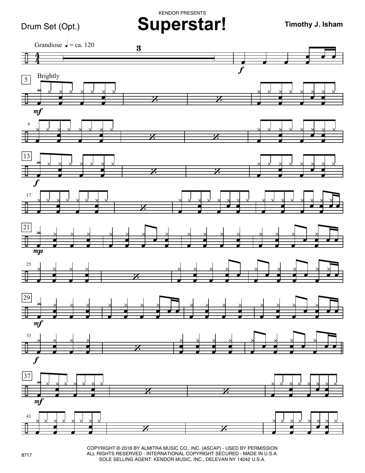 Timothy J. Isham Superstar! - Piano Accompaniment sheet music preview music notes and score for Orchestra including 2 page(s)