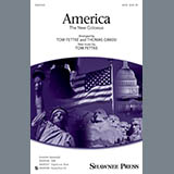Download Tom Fettke America (The New Colossus) Sheet Music arranged for SATB - printable PDF music score including 5 page(s)