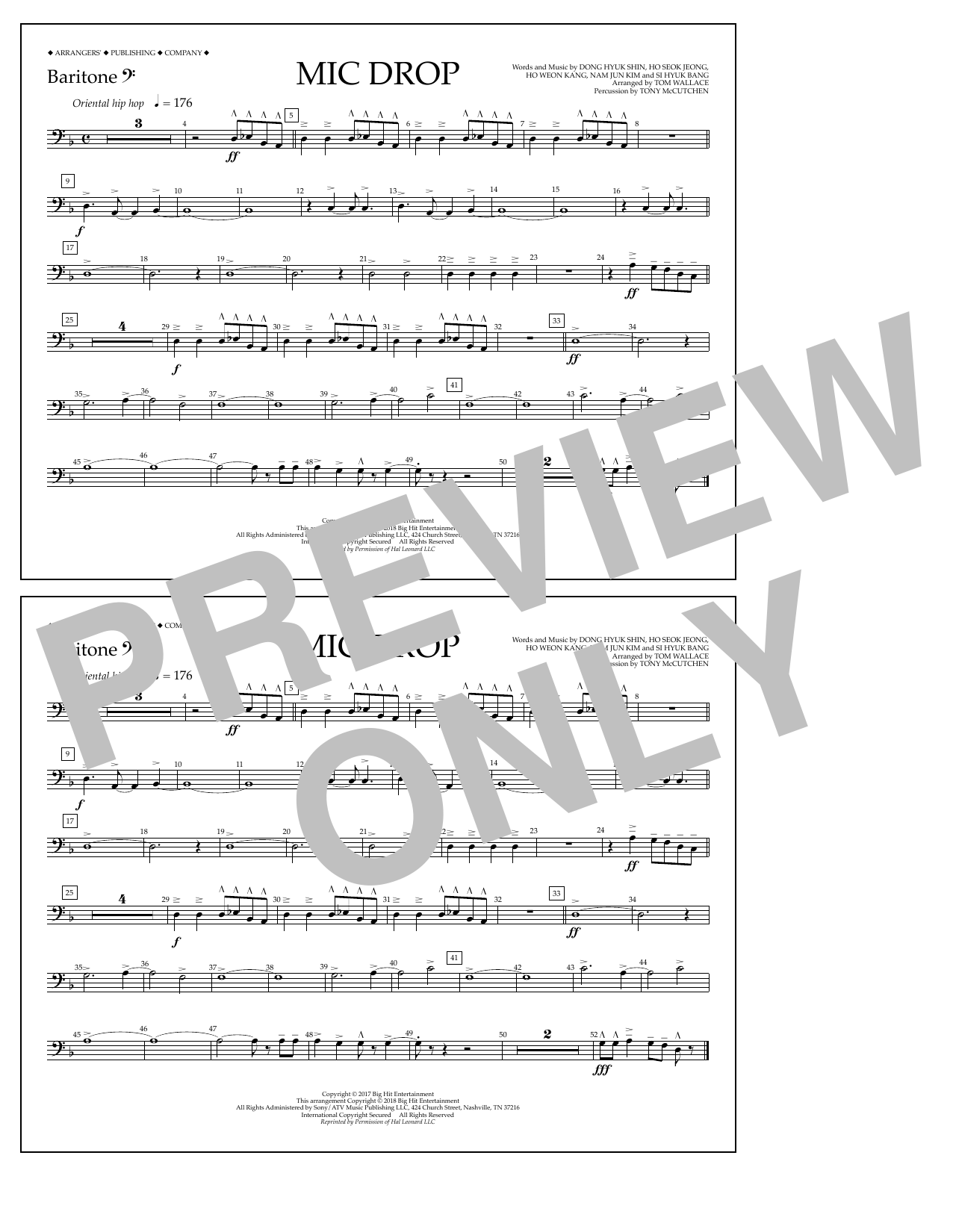 Download Tom Wallace 'Mic Drop - Baritone B.C.' Digital Sheet Music Notes & Chords and start playing in minutes