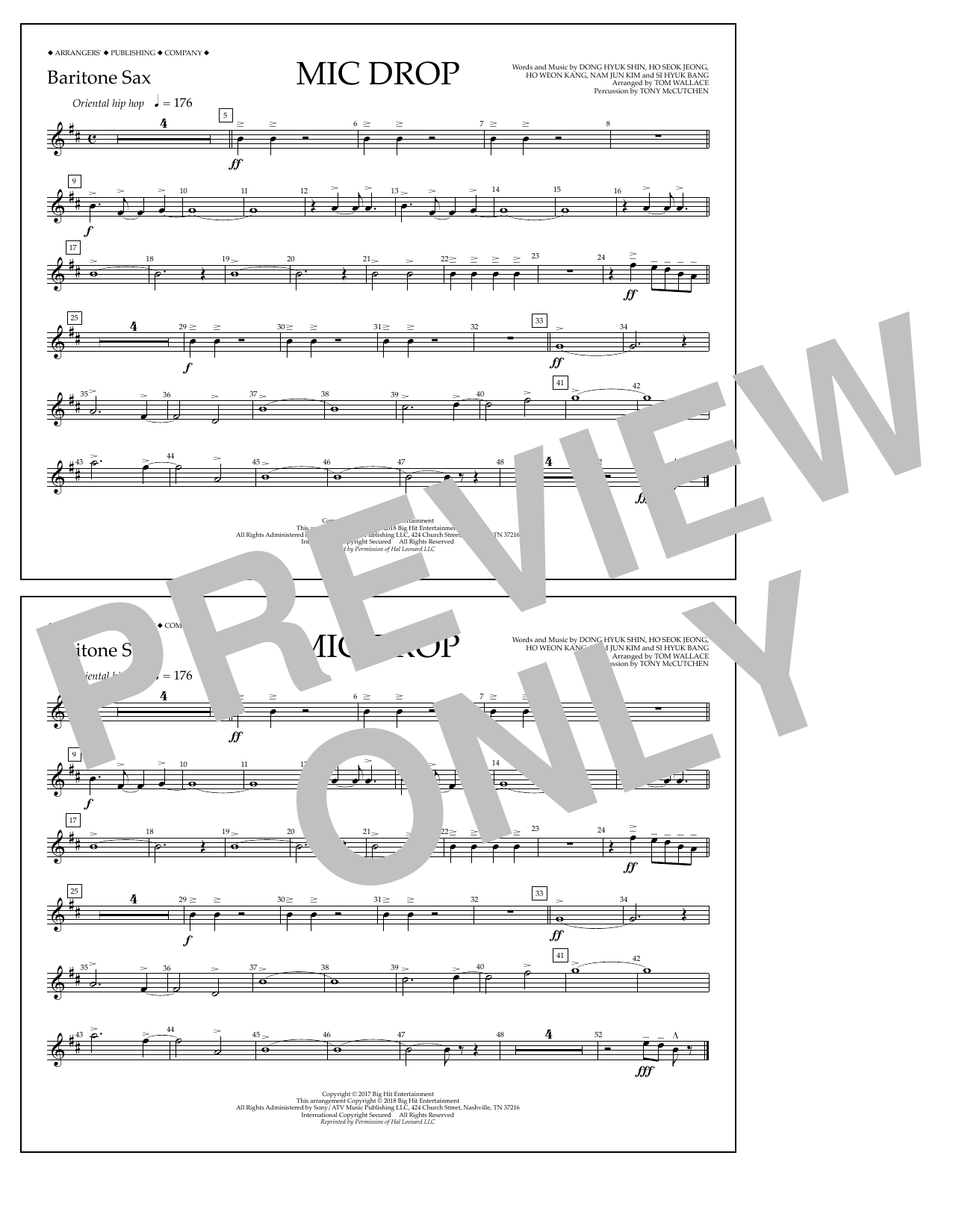 Download Tom Wallace 'Mic Drop - Baritone Sax' Digital Sheet Music Notes & Chords and start playing in minutes