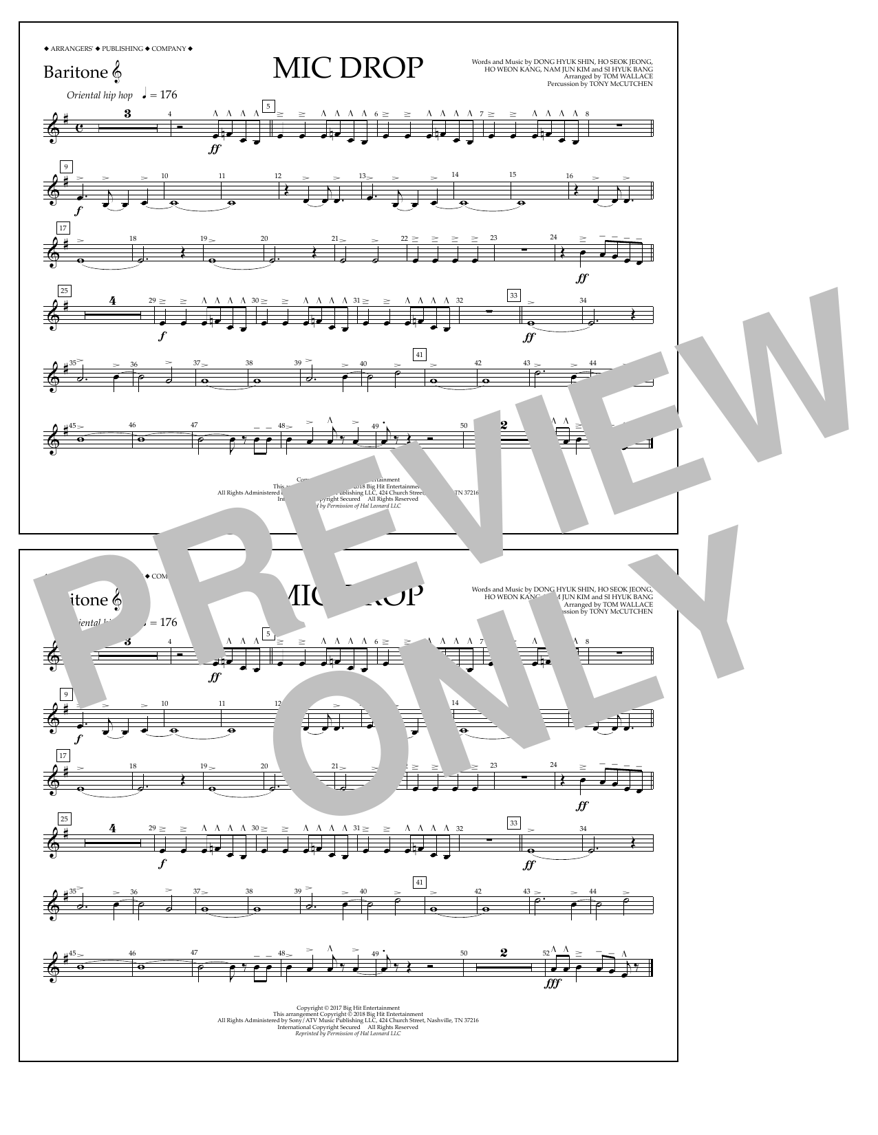 Download Tom Wallace 'Mic Drop - Baritone T.C.' Digital Sheet Music Notes & Chords and start playing in minutes