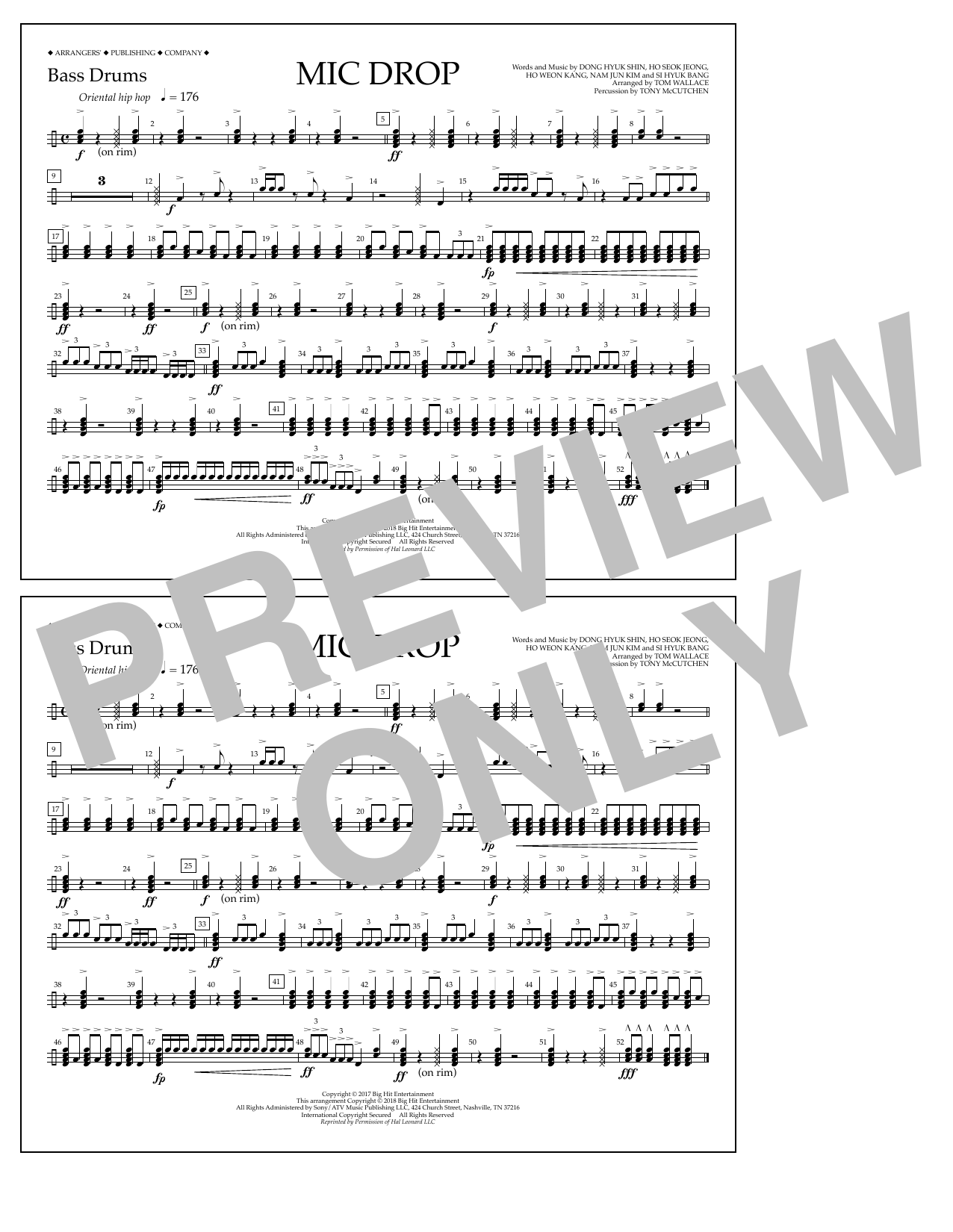Download Tom Wallace 'Mic Drop - Bass Drums' Digital Sheet Music Notes & Chords and start playing in minutes