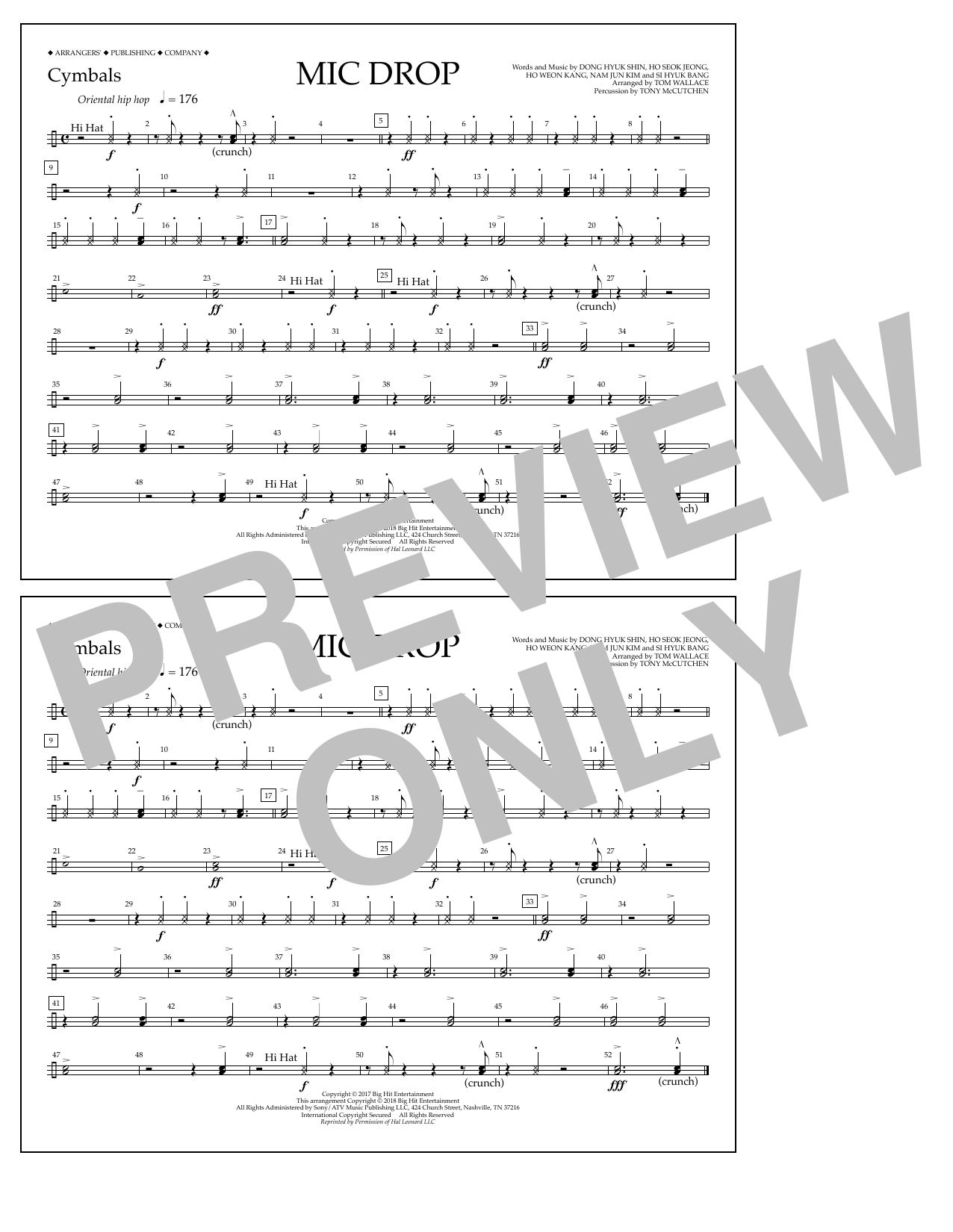 Download Tom Wallace 'Mic Drop - Cymbals' Digital Sheet Music Notes & Chords and start playing in minutes