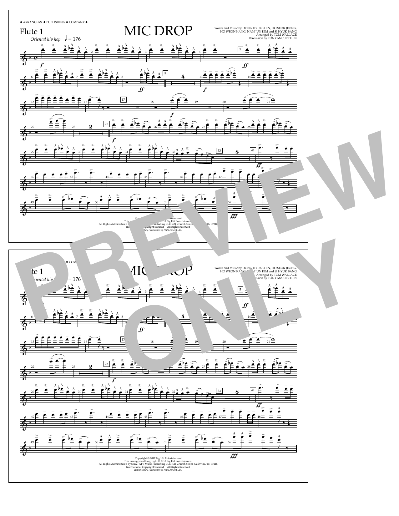 Download Tom Wallace 'Mic Drop - Flute 1' Digital Sheet Music Notes & Chords and start playing in minutes