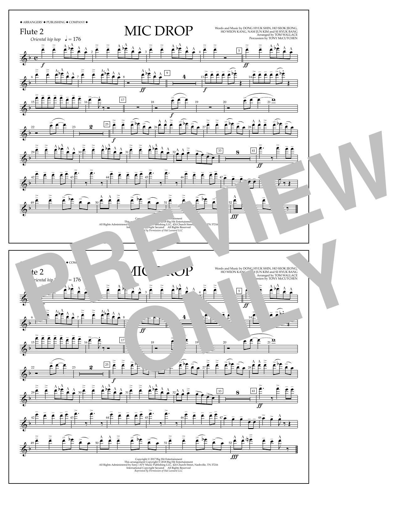 Download Tom Wallace 'Mic Drop - Flute 2' Digital Sheet Music Notes & Chords and start playing in minutes